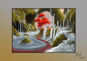 Lagoon - Pixel Art by Michael-Hansen