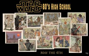 MAY THE 4th - Star Wars 80's High School by DenisM79