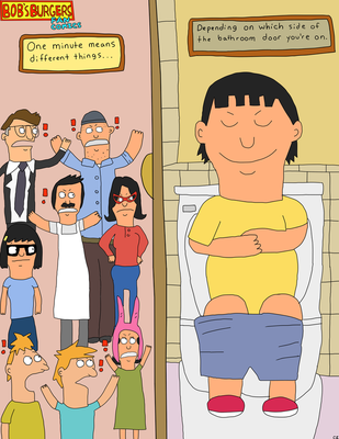 Bob's Burgers Fan Comics-Bathroom Thought by MyMelodyOfTheHeart