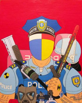 Enforcer- acrylic on canvas 2014 by alexander982