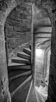 France - Foix - Castle 02 - Staircase by GiardQatar