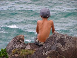 Cliff Contemplations by AfroDitee