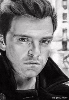Pencil drawing: Sebastian Stan by DegasClover