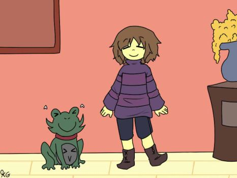 Pet Froggit by Kaitogirl
