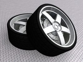 5 Spoke Rim, Render 2 by Picolini