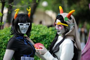 Aranea and Feferi Cosplay by Sioxanne