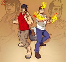 Werewolf Dagul and Dante Blaze by leomon32