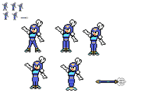 8-Bit Ruby-Spears Splash Woman by lalalei2001