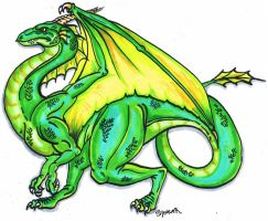 Greeny Dragon by WforWumbo