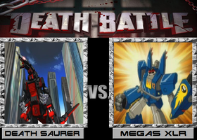 Death Battle: Death Saurer VS Megas XLR by Zeltrax987