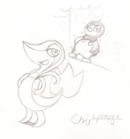 Snivy and Piplup by CrispyChris