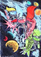 Powerpuff Women in Outer Space by blackhellcat