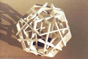 Dodecahedron 'Woven Pentagons' by RNDmodels