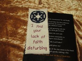 Star Wars Imperial Logo Cross-Stitch Bookmark by DaydreamQueenMisha