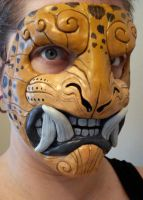 Leopard demon mask by missmonster