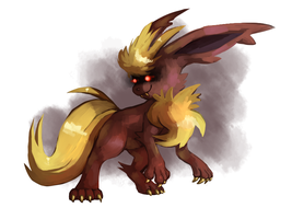 Dome Fossil Flareon by Meinkenny