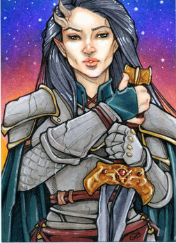 Sketchcard- Sabi by DangerWench