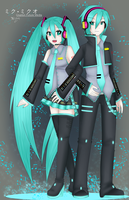 Miku X Mikuo Hatsune by Dressagefreak