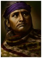 Chief Of The Desert - Navaho by wendelin