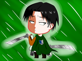 Re: Chibi Captain Levi from 'Attack On Titan' by Satsumatsu