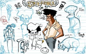 strid faider sketches by Goretoon