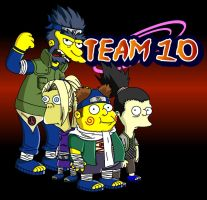 Naruto Simpsons - Team 10 by lloydvdw