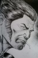Homage to Brian Bolland Wolverine by AlAyos