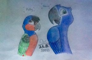 Polly and Kevin by SammfeatBlueheart