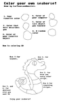 Color your own Seahorse Meme by CartoonsandMonsters