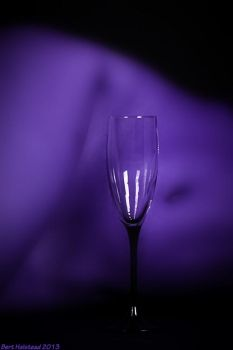 Champagne Glass and Purple Nude by bhalstead