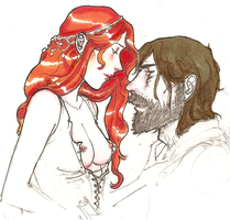 Sandor/Sansa II by hedgehog-in-snow