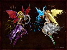 Demon and Angel by Mireie