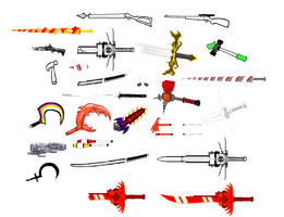 Homestuck Weapons by blahjerry