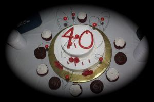 40th bday cake by pinkshoegirl