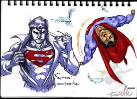 Superman Sketches by emmshin