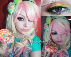 Cute Donut Makeup Look by cherrybomb-81