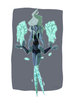 Malachite and Alexandrite fusion by Pixe-ll-Cat