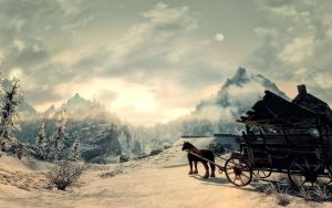 Skyrim morning wagon by Mallony