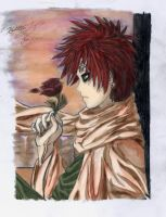 Gaara of the Sand by SilverGoldsun