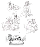 nepeta + equius doodles by bigbigtruck