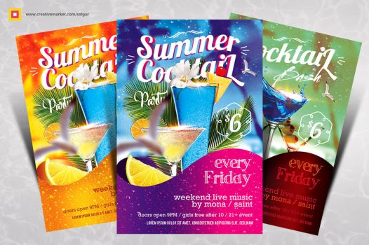 Summer Cocktail Party Flyer by satgur