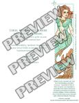 Coral Mermaid Bookmarks 2x8 Download by helloheath