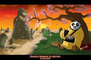 Dragon Warrior Po Resting by Archon89