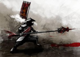 Post Apocalyptic Samurai by shweebie