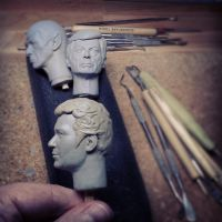 1/6 Admiral Kirk headsculpt - in progress pic 2 by DarrenCarnall