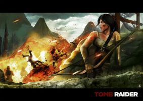 Tomb Raider - The Explosion by ellinsworth
