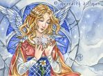 Snowflake Angel ACEO by MeredithDillman