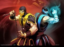 .....SCORPION.....SUBZERO.... by el-grimlock