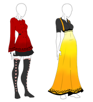 Outfit Adopts - Pretty Ladies - CLOSED by ShadowInkAdopts