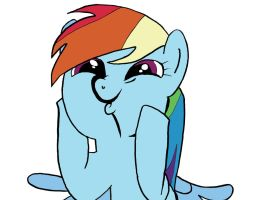 Rainbow Dash That Face Colored by JamesyBeanZ